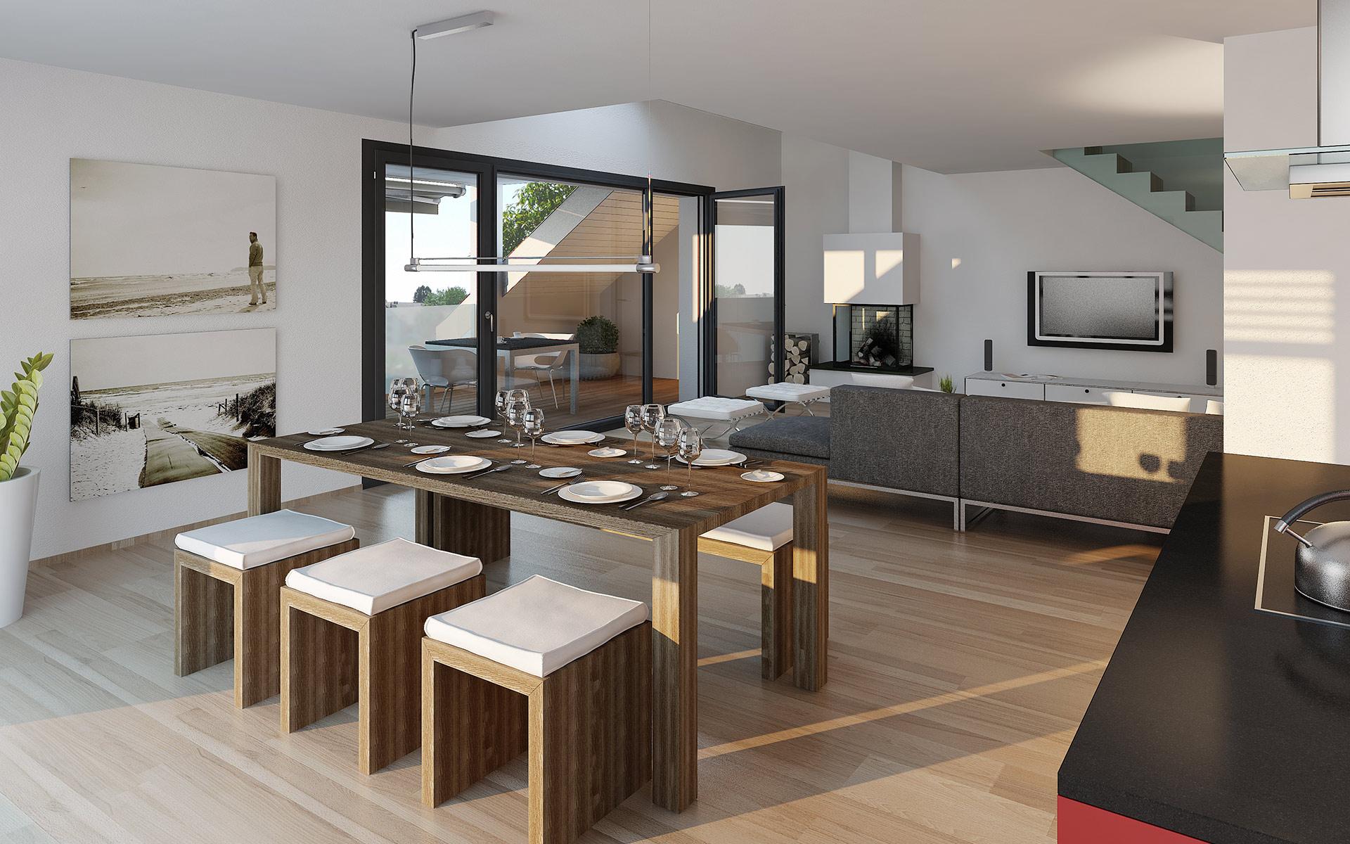 Visualisierung Projekt «Casa Due» in Dielsdorf