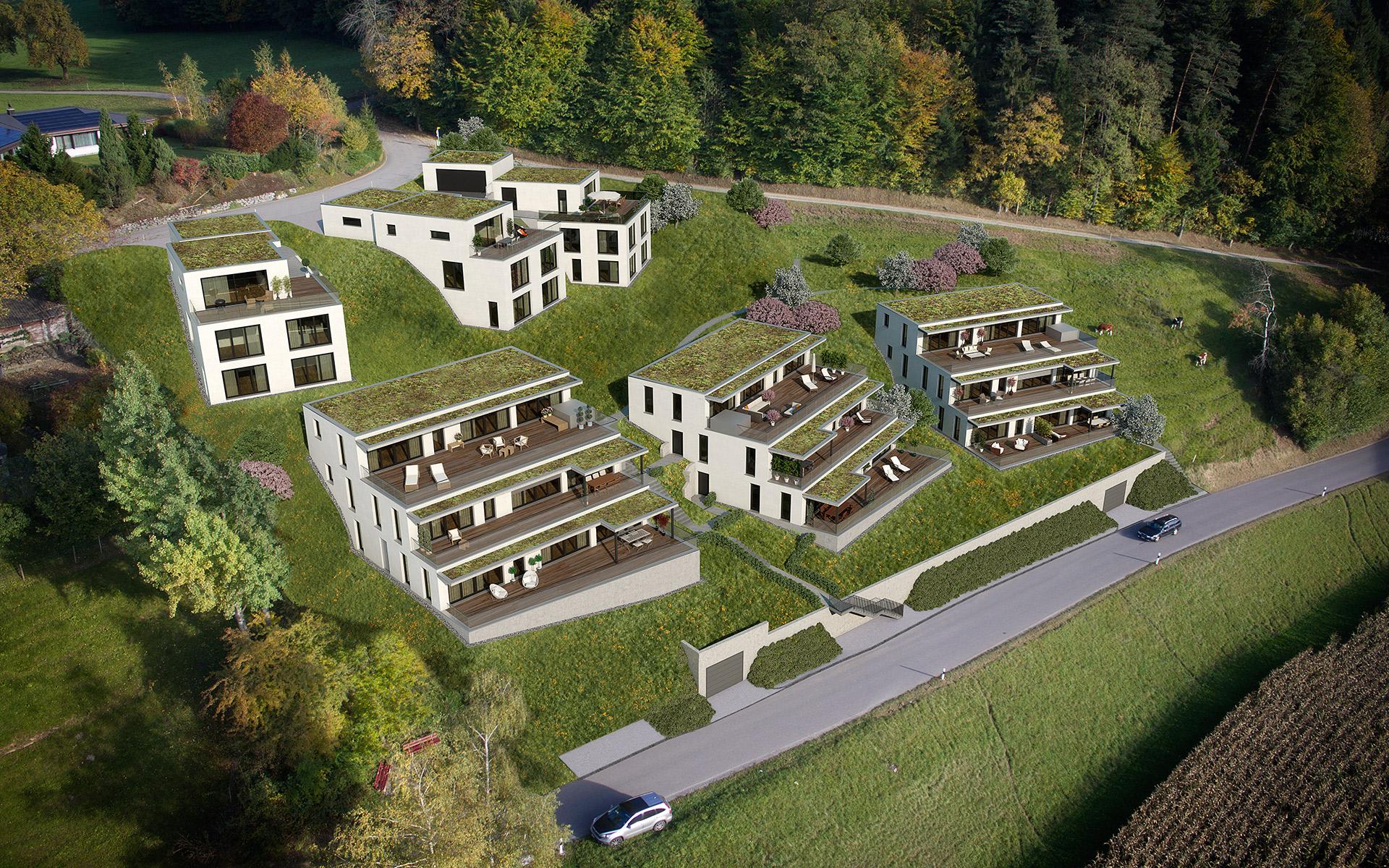 Visualisierung Projekt «Sunnehügel Hushalden» Dussnang
